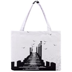 The Pier The Seagulls Sea Graphics Mini Tote Bag by Amaryn4rt
