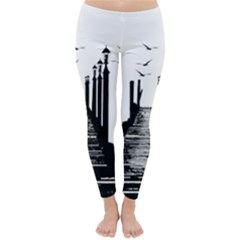 The Pier The Seagulls Sea Graphics Classic Winter Leggings by Amaryn4rt