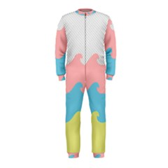 Wave Waves Pink Yellow Blue Onepiece Jumpsuit (kids) by Jojostore