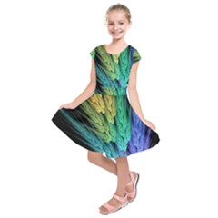 Abstract Fractal Kids  Short Sleeve Dress