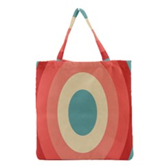 Circles Colorful Bull s Eye Grocery Tote Bag by Jojostore