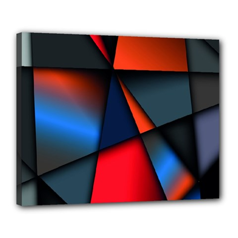 3d And Abstract Canvas 20  X 16  by Nexatart