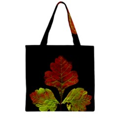 Autumn Beauty Zipper Grocery Tote Bag by Nexatart