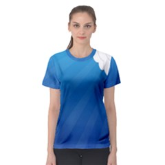 Clouds Blue Sky Women s Sport Mesh Tee