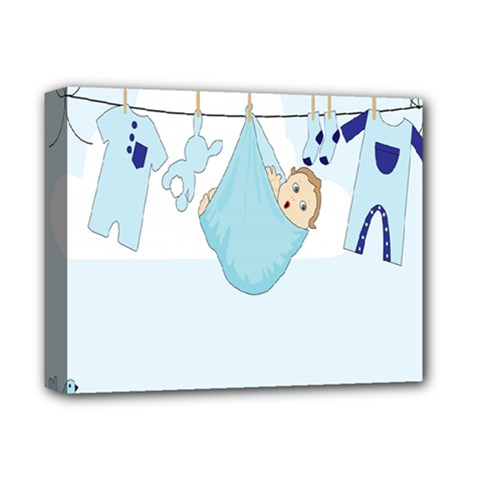 Baby Boy Clothes Line Deluxe Canvas 14  X 11  by Nexatart