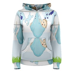 Baby Boy Clothes Line Women s Pullover Hoodie by Nexatart
