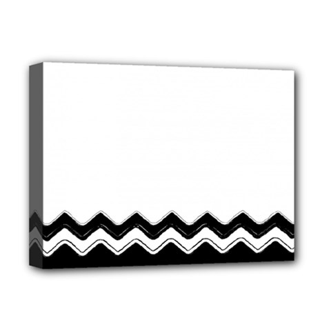 Chevrons Black Pattern Background Deluxe Canvas 16  X 12   by Nexatart