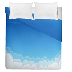 Clouds Illustration Duvet Cover Double Side (queen Size) by Jojostore
