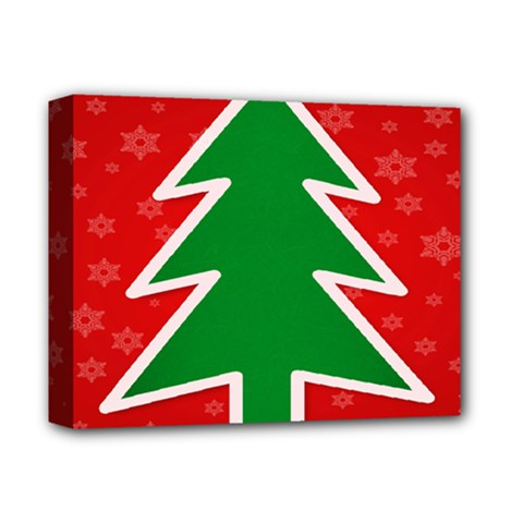 Christmas Tree Deluxe Canvas 14  X 11  by Nexatart