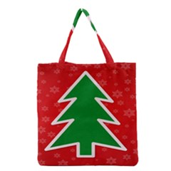 Christmas Tree Grocery Tote Bag by Nexatart