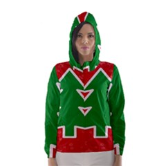 Christmas Tree Hooded Wind Breaker (women)