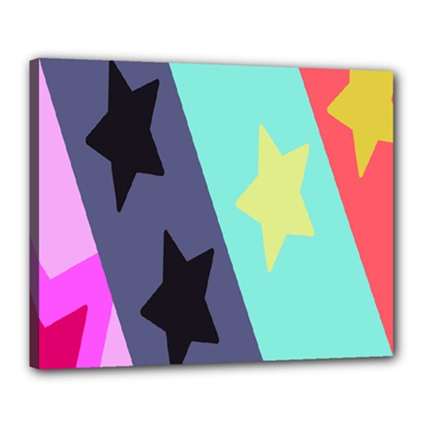 Cool Star Flag Canvas 20  X 16  by Jojostore