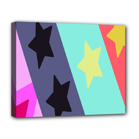 Cool Star Flag Deluxe Canvas 20  X 16   by Jojostore