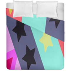 Cool Star Flag Duvet Cover Double Side (california King Size) by Jojostore