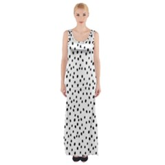 Dalmation Maxi Thigh Split Dress by Jojostore