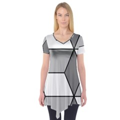 Diamond Cubes Gray Short Sleeve Tunic