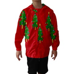 Christmas Trees Hooded Wind Breaker (kids)