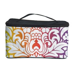 Cool Flower Rainbow Blue Purple Red Orange Yellow Green Cosmetic Storage Case
