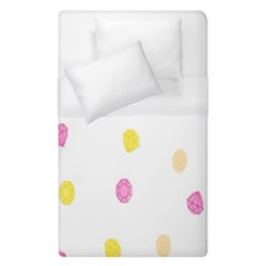 Diamond Pink Yellow Duvet Cover (single Size)