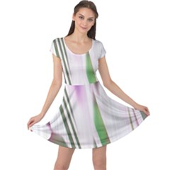 Colored Pattern Cap Sleeve Dresses by Nexatart