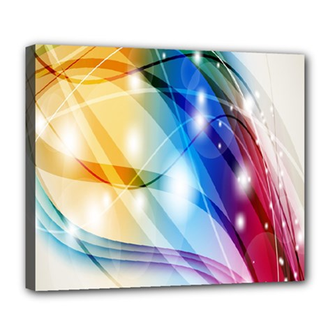 Colour Abstract Deluxe Canvas 24  X 20   by Nexatart