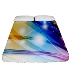 Colour Abstract Fitted Sheet (king Size)