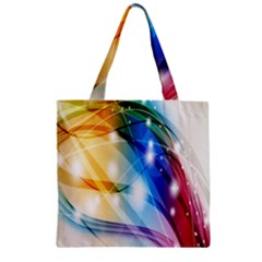 Colour Abstract Zipper Grocery Tote Bag by Nexatart