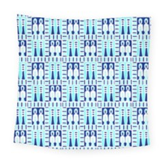 Egyptianpattern Colour Blue Square Tapestry (large)