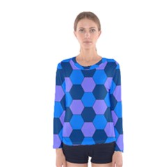 Four Colour Theorem Blue Grey Women s Long Sleeve Tee by Jojostore