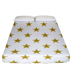 Gold Stars Fitted Sheet (queen Size)