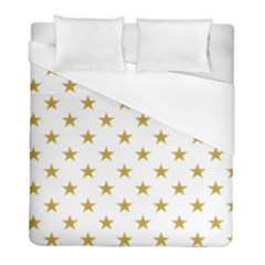 Gold Stars Duvet Cover (full/ Double Size) by Jojostore