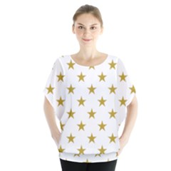 Gold Stars Blouse by Jojostore