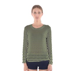 Hexagon Green Women s Long Sleeve Tee by Jojostore