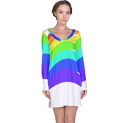 Rainbow Long Sleeve Nightdress by Jojostore