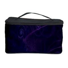 Purple Abstract Spiral Cosmetic Storage Case by Jojostore