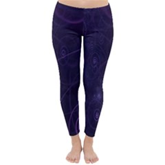 Purple Abstract Spiral Classic Winter Leggings