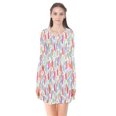 Splash Pattern Color Sign Flare Dress