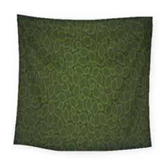 Leaves Dark Square Tapestry (large)