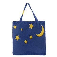 Starry Night Moon Grocery Tote Bag by Jojostore