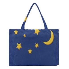 Starry Night Moon Medium Tote Bag by Jojostore