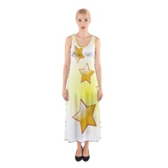 Star Gold Sleeveless Maxi Dress