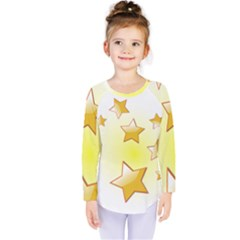 Star Gold Kids  Long Sleeve Tee