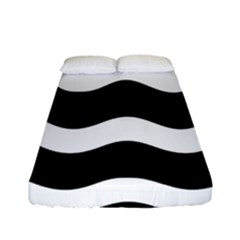 Wave Black Fitted Sheet (full/ Double Size)