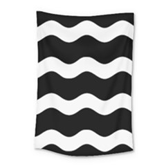 Wave Black Small Tapestry