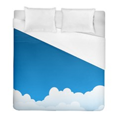 Clouds Illustration Blue Sky Duvet Cover (full/ Double Size)