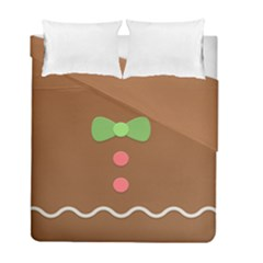 Stunning Gingerbread Brown Bread Duvet Cover Double Side (full/ Double Size) by Jojostore