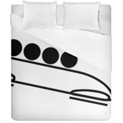 Bobsleigh Pictogram Duvet Cover Double Side (california King Size) by abbeyz71