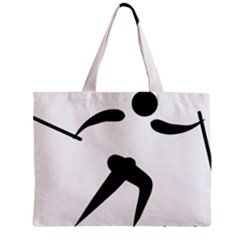 Cross Country Skiing Pictogram Zipper Mini Tote Bag by abbeyz71