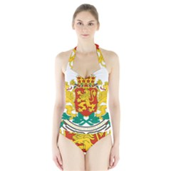 Coat Of Arms Of Bulgaria Halter Swimsuit
