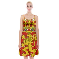Lesser Coat Of Arms Of Bulgaria  Spaghetti Strap Velvet Dress